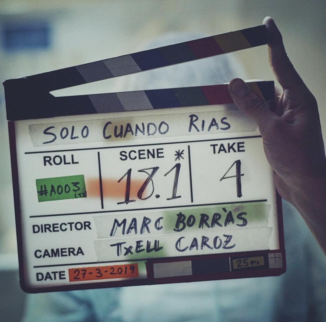 """Acaba el rodaje de """"Solo Cuando Rias"""""""